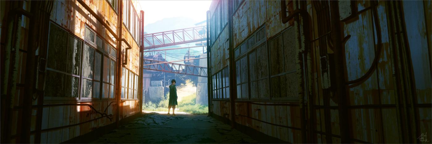 Красивые панорамные арты автора Mochi