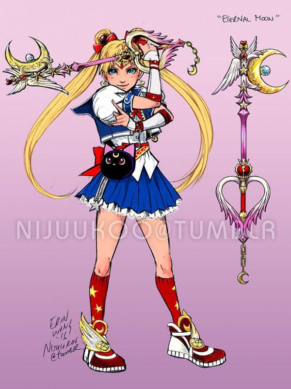 Что, если бы Sailor Moon было в Kingdom Hearts?