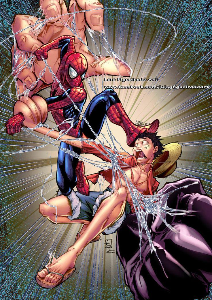 Спайдермен против Луффи