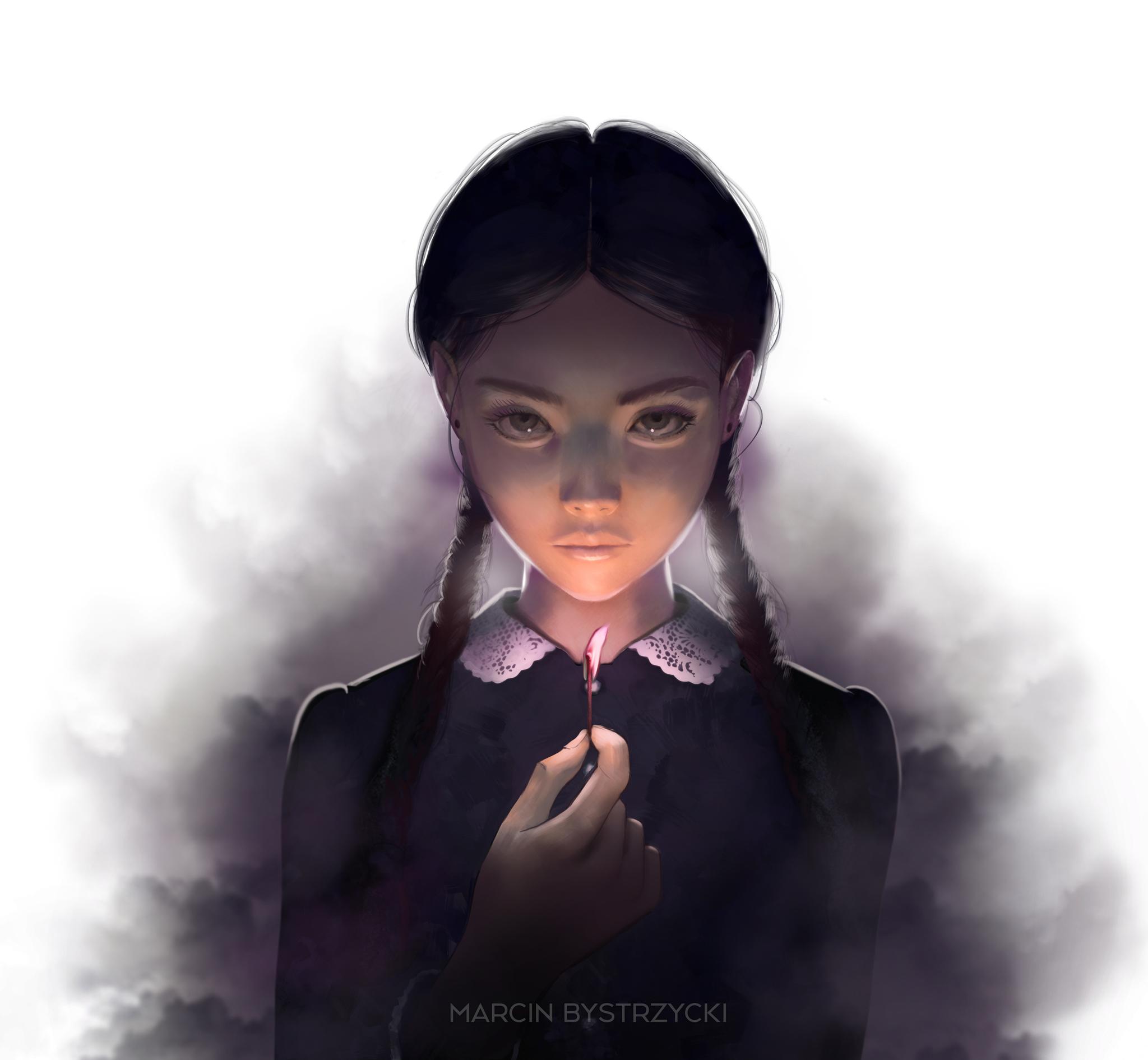 Wednesday Addams. Автор: Marcin Bystrzycki