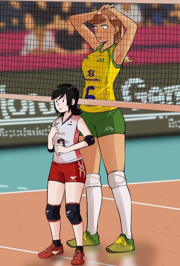 Волейболистки 2D vs 3D