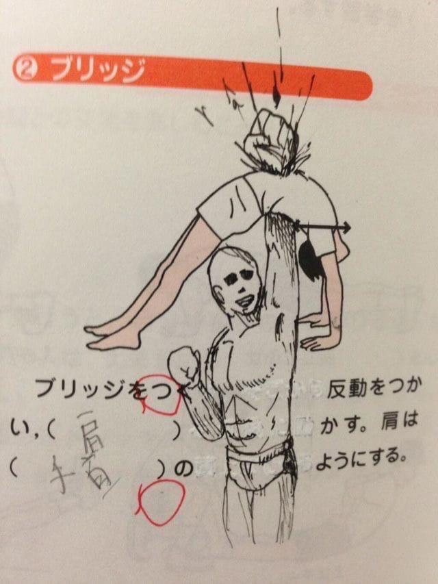 Рисунки в учебниках японских школьников
