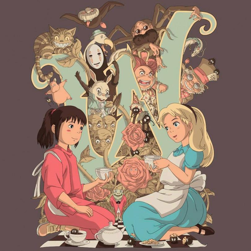 Унесенная призраками и Алиса в стране чудес