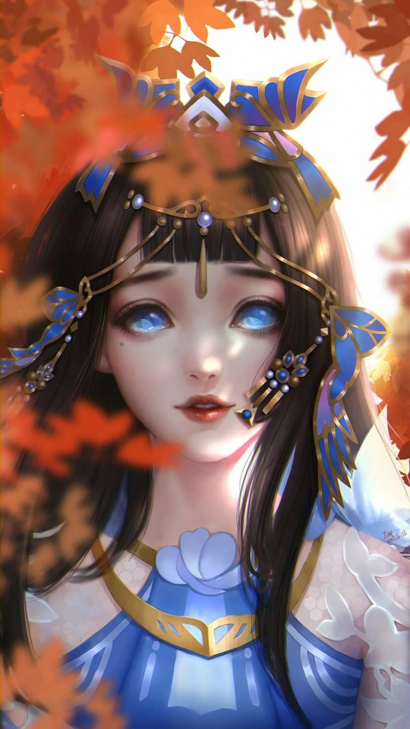 А глаза синие-синие