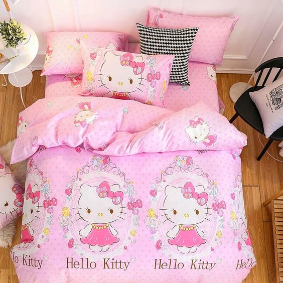 Розовая постелька