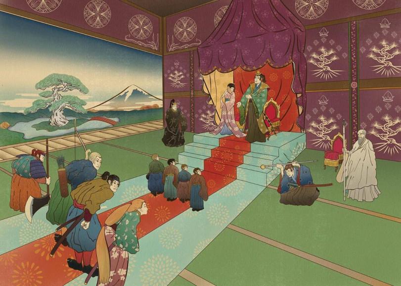 Властелин колец в стиле укиё-э
