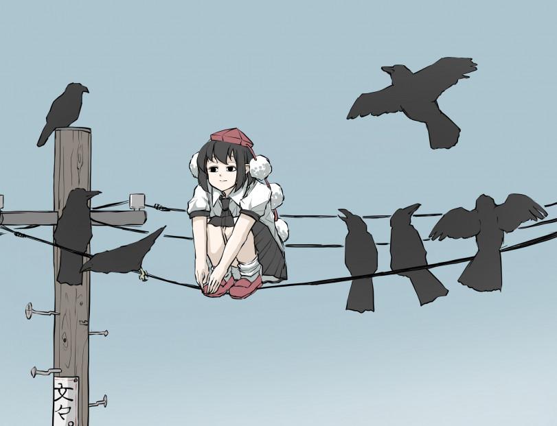 Птички на проводах