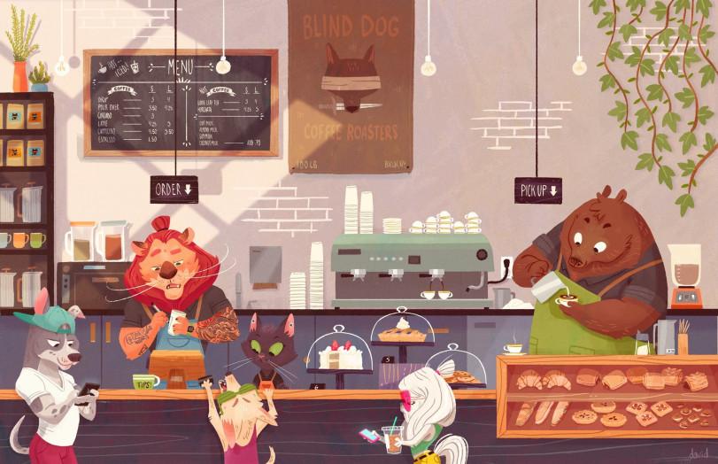 Утро в кофейне