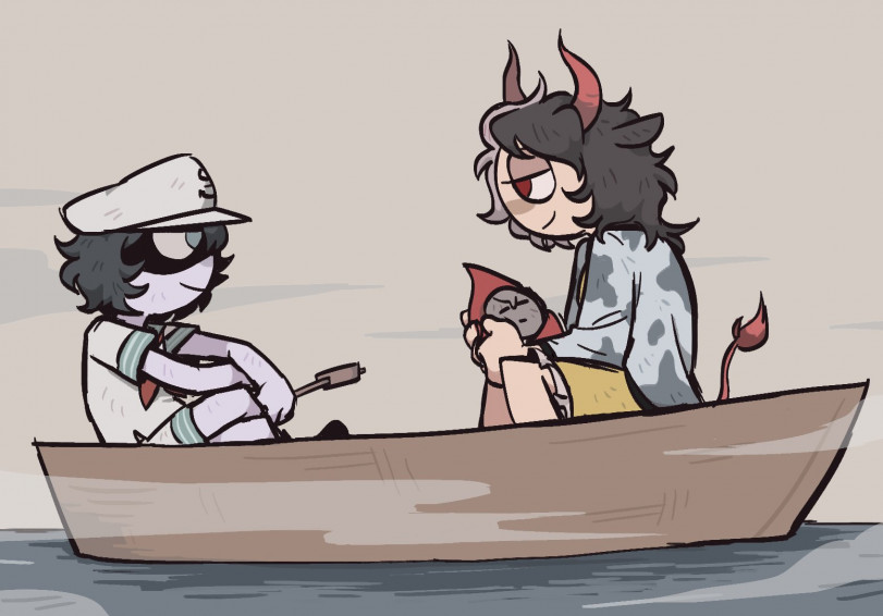 Эй, вы что забыли в моей лодке?