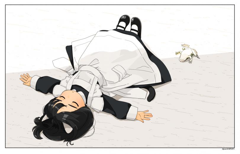 Усталый лягушононк