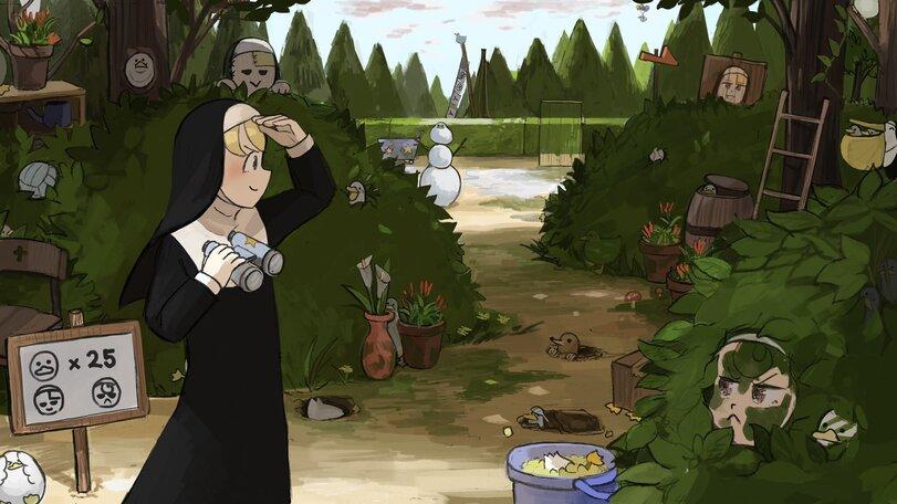 Прятки (уток × 25, монахинь × 2)