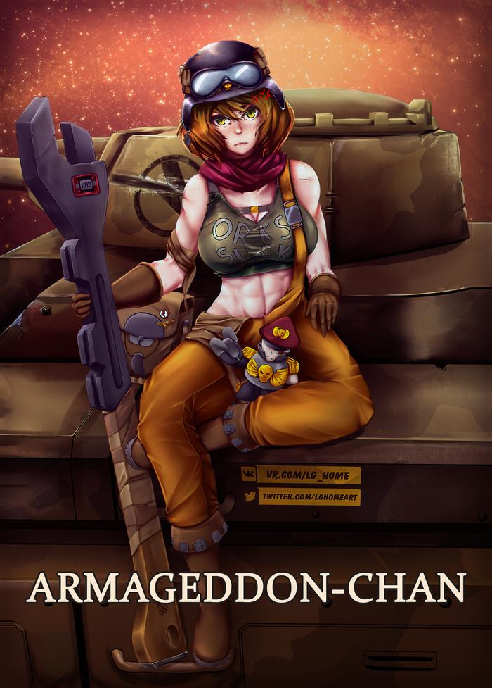 Хуманизация планеток warhammer40k. Армагеддон-тян.