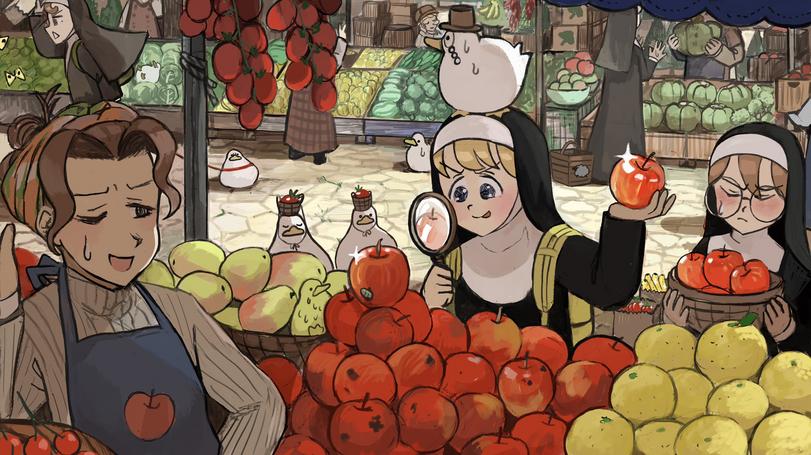 Она хороша в покупке фруктов