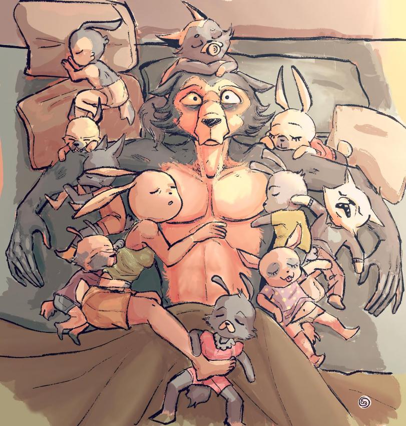 Семейная жЫзнь с крольчихой