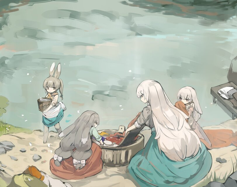 Зайки на Озере.