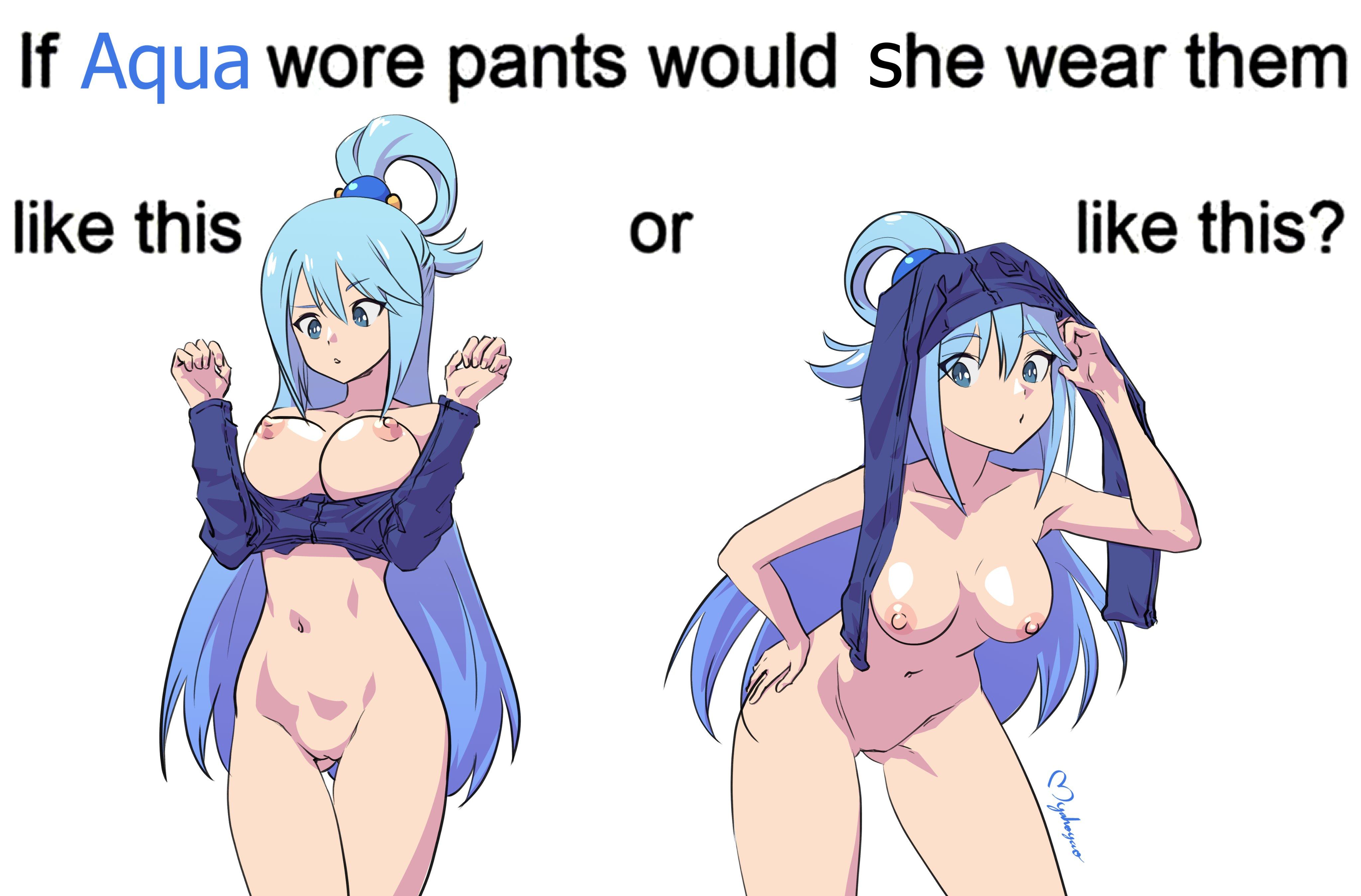 Если аква наденет штаны: она сделает так или так?