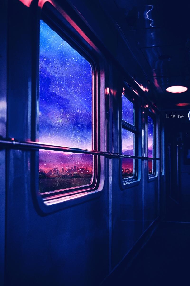 В вагоне поезда
