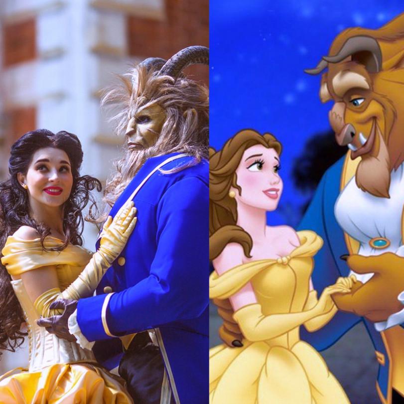 Красавица и Чудовище, косплей. По мотивам диснеевского мультфильма Beauty and the Beast