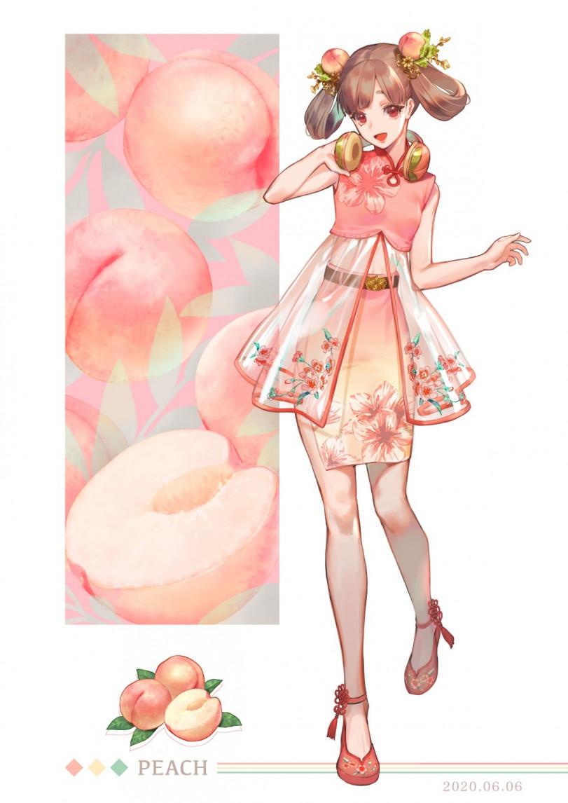Ананасинка и персик