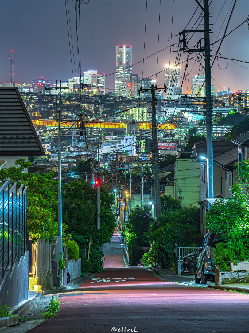 Ночной вид на Иокогаму