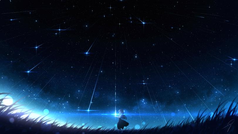 Ночью в поле