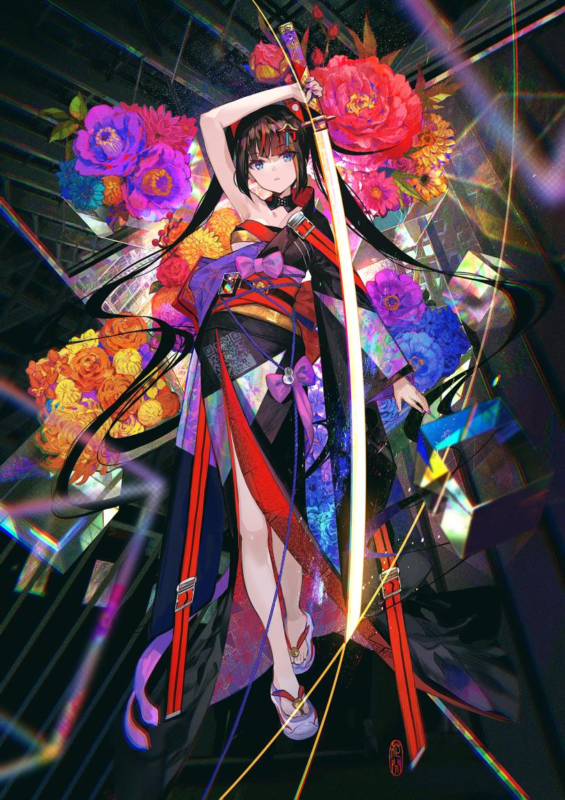 Цветок в кимоно