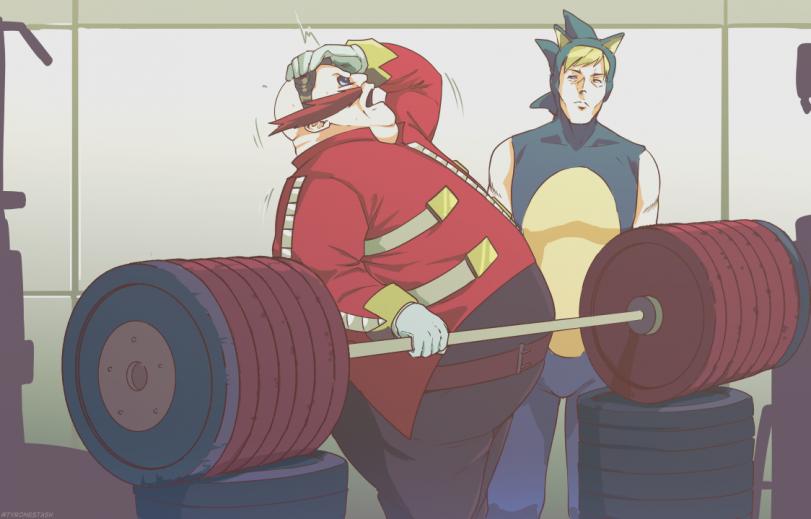 Эггман в спортзале