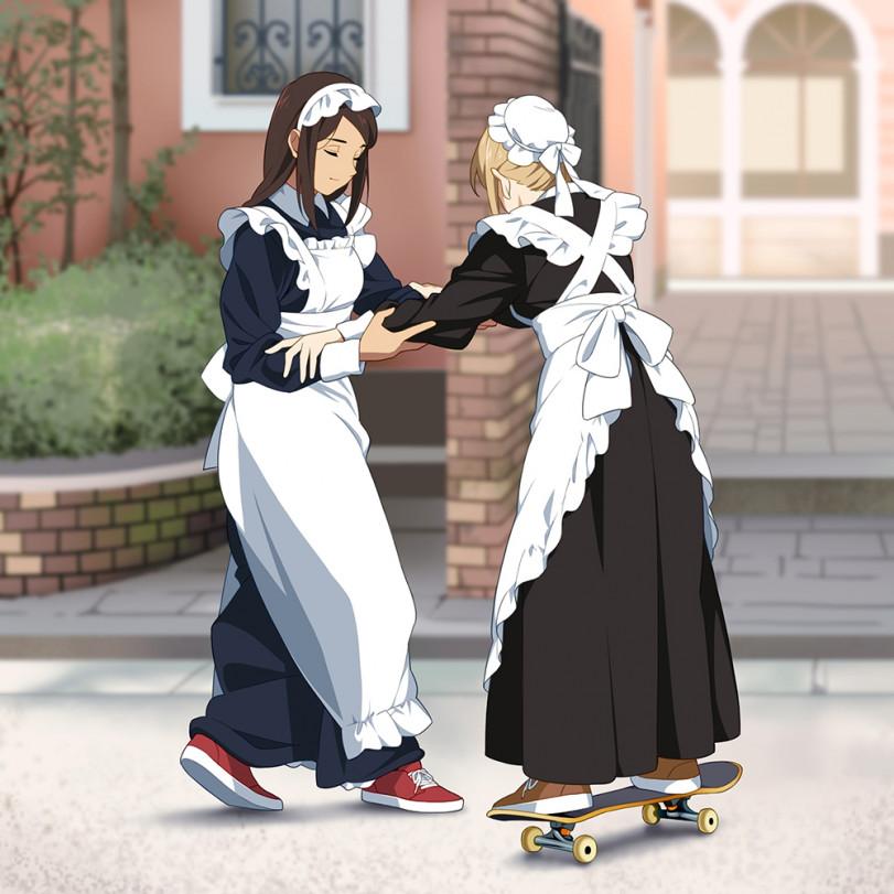 Горничные-скейтеры