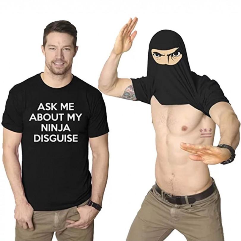 А ну-ка спроси меня про мою ниндзя маскировку!