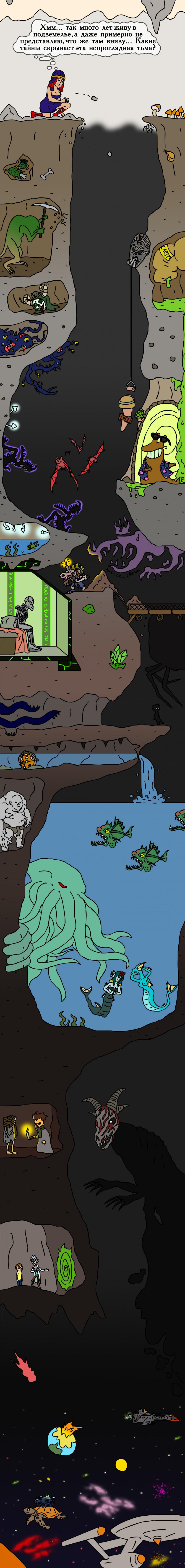 Что там, на дне пещер