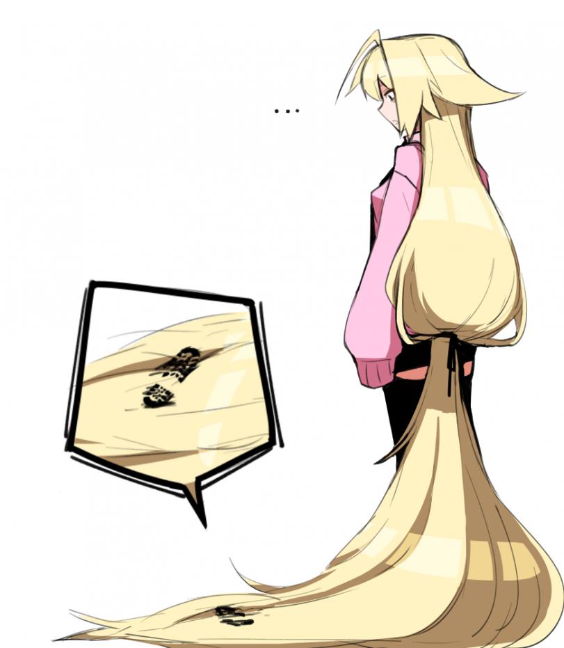 Слишком длинные волосы