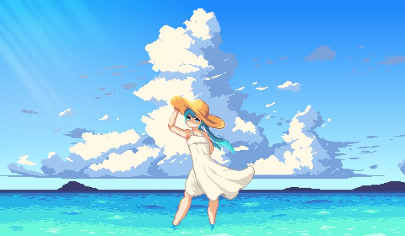 Miku in summer