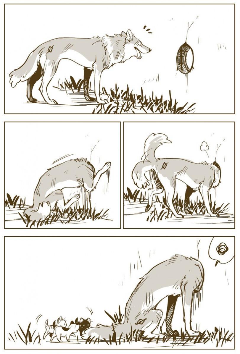 Очень милый комикс про волков