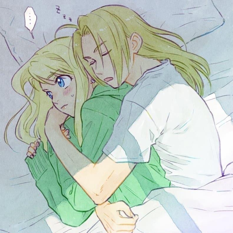 Милая пара Эдвард и Уинри
