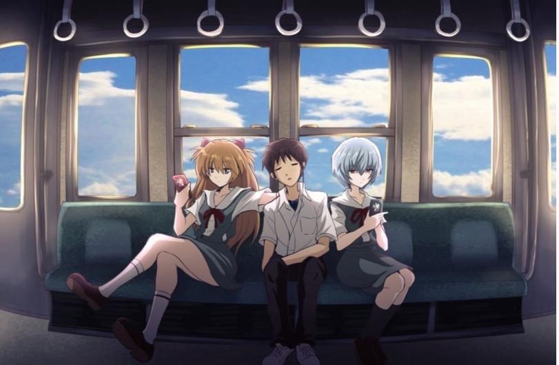Пилоты Евы в поезде