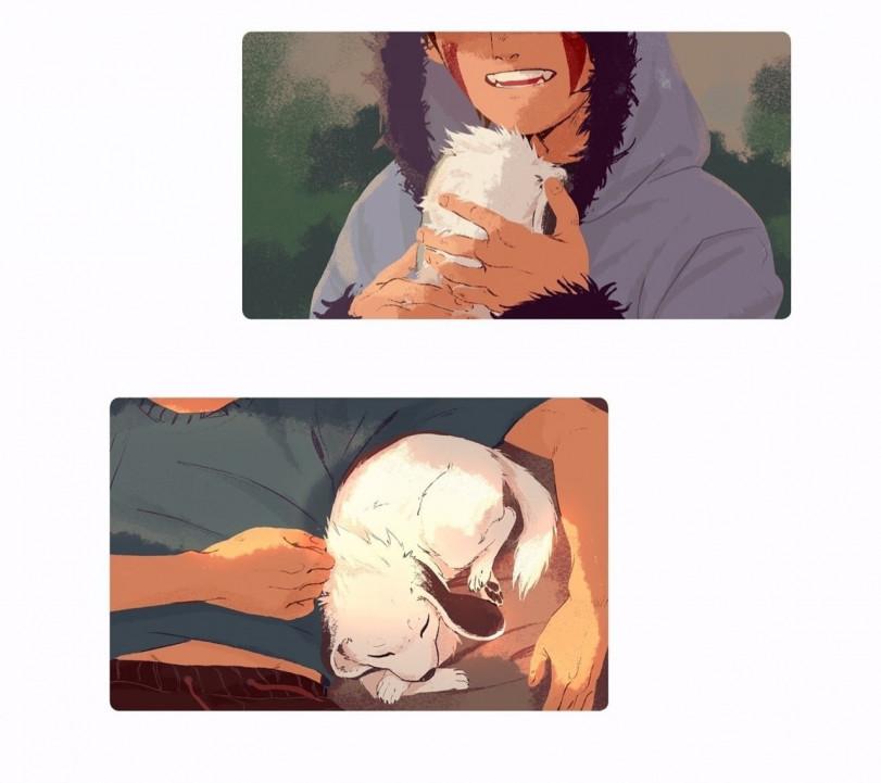 Киба и Акамару