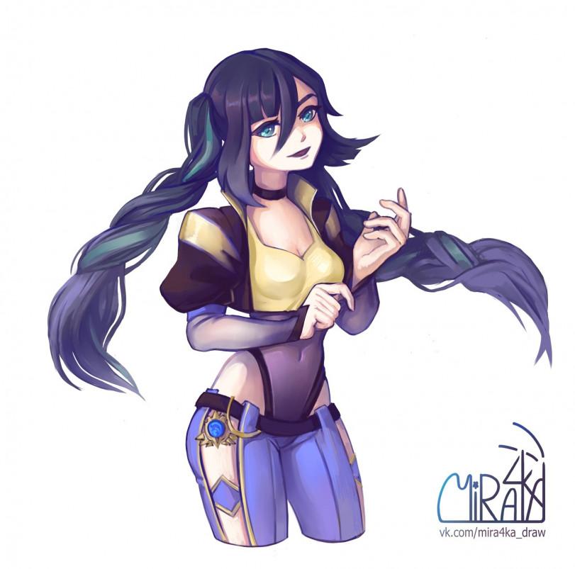 Готичная Мона от Mira4ka