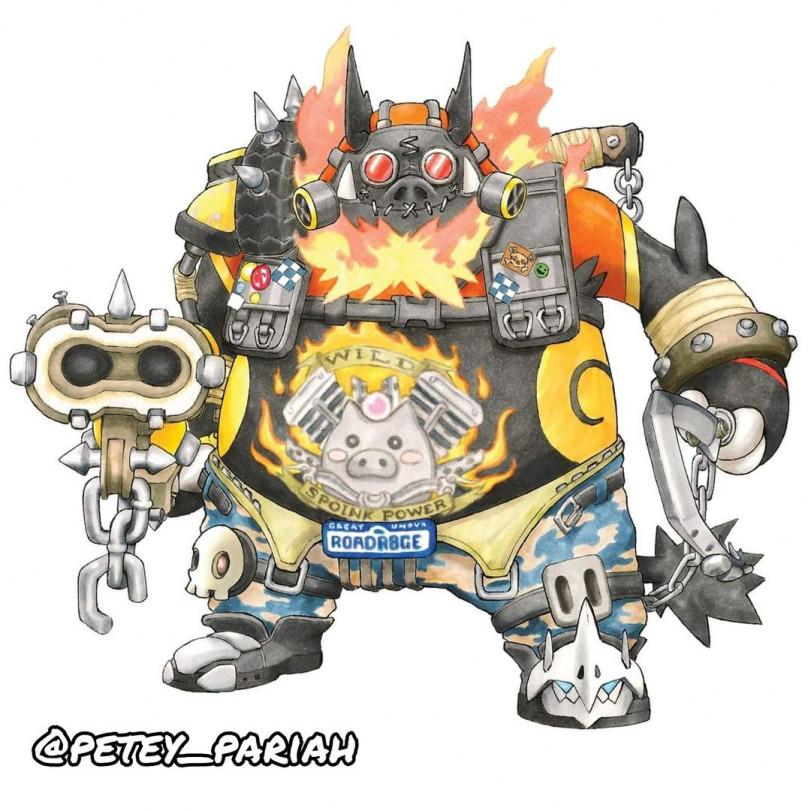 Покемоны в виде героев Overwatch или герои Overwatch в виде покемонов